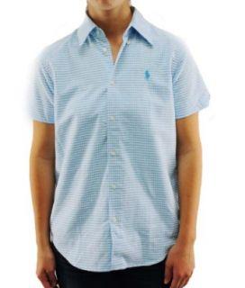 Polo Ralph Lauren Womens AQUA Blue Button Up Shirt