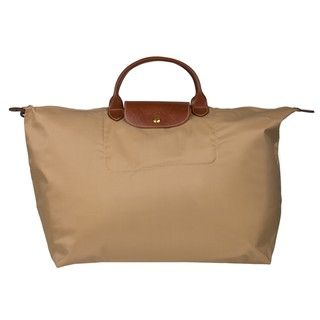 Longchamp Le Pliage Leather trim Tote Bag