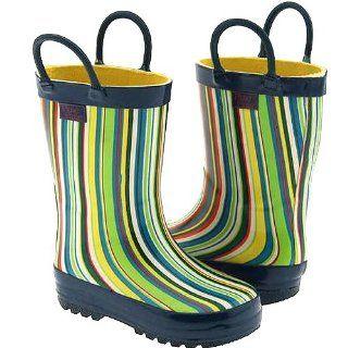 Toddler Little Girls Blue Stripe Rain Boots 5 2 Pluie Pluie Shoes