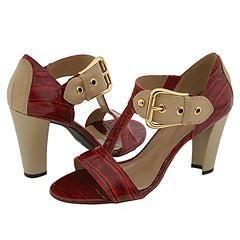Franco Sarto Detract2 Red Croc Sandals