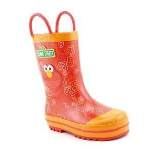 Sesame Street Boys Elmo Rainboots Rubber Boots