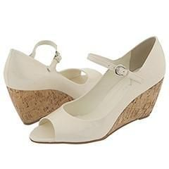 Franco Sarto Fashion Off White Patent Pumps/Heels