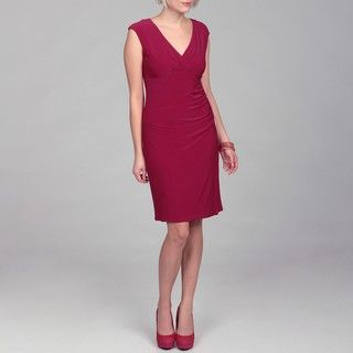 Jessica Howard Womens Rose Ruched Dress