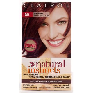Clairol Natural Instincts #22 Cinnaberry Med Auburn Brown Hair Color