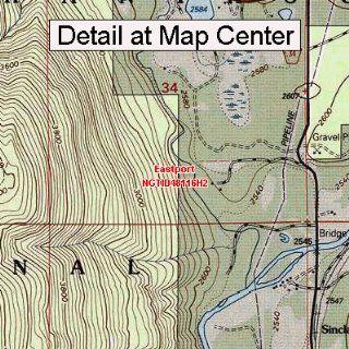USGS Topographic Quadrangle Map   Eastport, Idaho (Folded