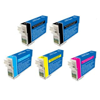 Epson T127 Remanufactured Black / Colors Ink Cartridges (Pack of 5