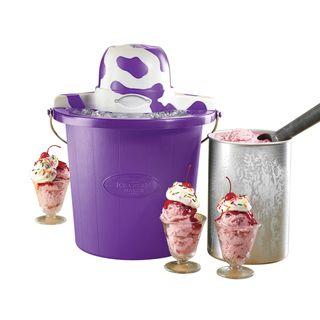 Nostalgia Electrics 4 quart Cow Purple Ice Cream Maker