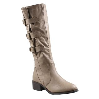 Refresh by Beston Womens Kirby Knee high Riding Boots
