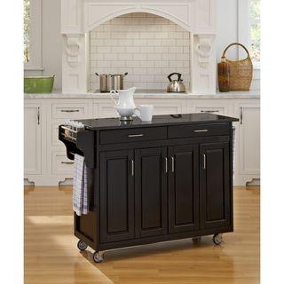 Home Styles Create a Cart Black Finish Black Granite Top Cart