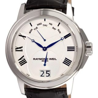 Raymond Weil Mens Tradition White Face Day Date Watch