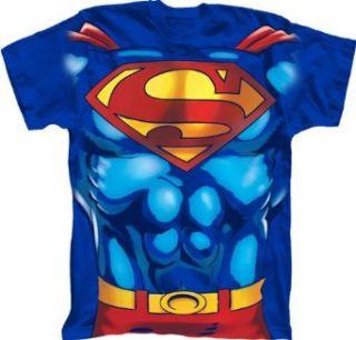 Superman Muscle Mens Royal Blue T Shirt Tee Clothing