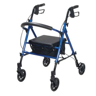 Drive Medical Adjustable Height Rollator with 6 inch Wheels