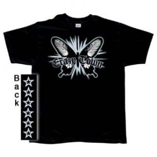 Crazytown   Glowing Butterfly T Shirt   X Large Clothing