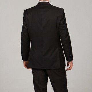 Marc Ecko Mens Black Two button Suit