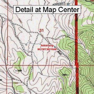USGS Topographic Quadrangle Map   Antimony, Utah (Folded