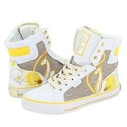 Baby Phat Lolita Cat White/Gold/Lemon Athletic