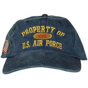 Navy Blue Property Of US Air Force XXL Embroidered Ball