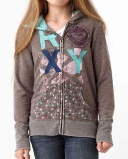 Roxy Girls Size (7 16) Snow Flake Hoodie Sweatshirt Gray