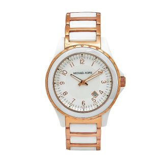 Michael Kors Womens Classic White Stainless Steel and Ceramic Watch