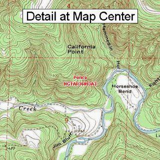 USGS Topographic Quadrangle Map   Ponca, Arkansas (Folded