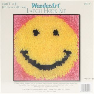 Wonderart Latch Hook Kit 8X8 Smile