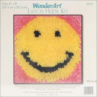Wonderart Latch Hook Kit 8X8 Smile