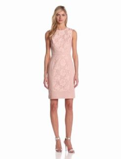 Maggy London Womens Web Rose Lace Sheath with Front Panel