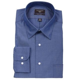 Dockers Mens Dark Blue Dress Shirt