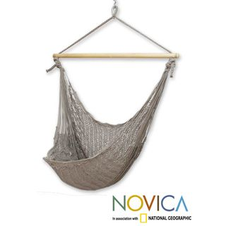 Handcrafted Cotton Pate Large Deluxe Hammock Swing Chair (Mexico