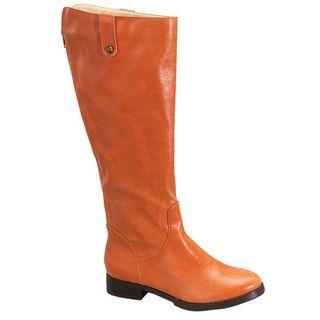 Fahrenheit Womens Rooney 03 Orange Riding Boots