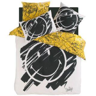Parure de lit Smiley Graffiti 240 x 220 cm + 2 taies 63 x 63 cm   100%