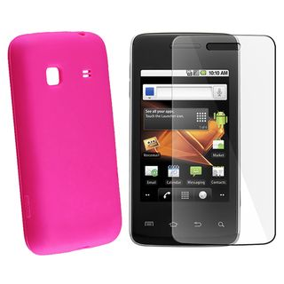 Hot Pink Case/ Screen Protector for Samsung Galaxy Prevail M820