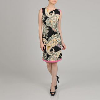 Lennie for Nina Leonard Womens Paisley Print Sheath Dress