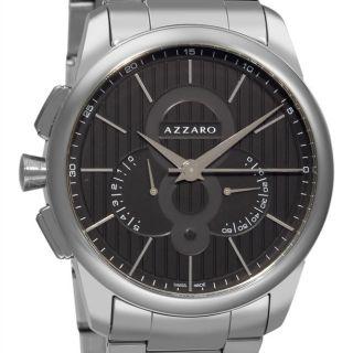 Azzaro Mens Legend Chrono Black Face Retrograde Chronograph Watch