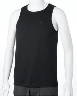 Speedo Mens Mesh Tank, Black, Medium Clothing