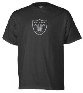 NFL Mens Oakland Raiders Faded Logo Tee (Black, Small