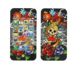 Apple iPhone 4 Koi Fish/ Skull Smart Touch Shield Decal