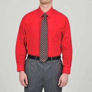 Alexander Julian Colours Mens Cranberry Dress Shirt and Neat Tie