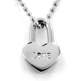 Stainless Steel Cubic Zirconia Love Heart Necklace