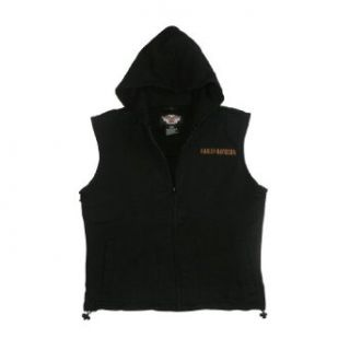 Mens Harley Davidson Motor Racing Sleeveless Hooded