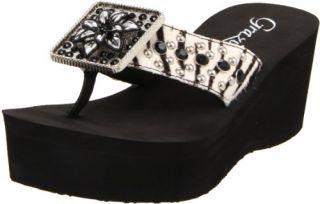 Grazie Womens Kayla Wedge Sandal Shoes