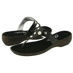 Onex Greta Black/Silver Sandals (Size 7)