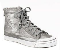 Fatima Metallic Dust High Top Sneaker Shoes A1040 Womens (7) Shoes