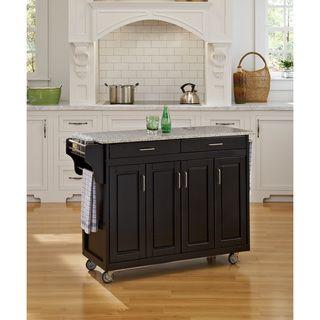 Home Styles Create a Cart Black Finish Salt and Pepper Granite Top