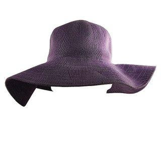 H2W Purple Adjustable Womens Floppy Hat