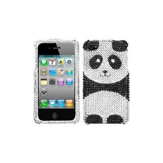 Premium Apple iPhone 4/4S Panda Rhinestone Case