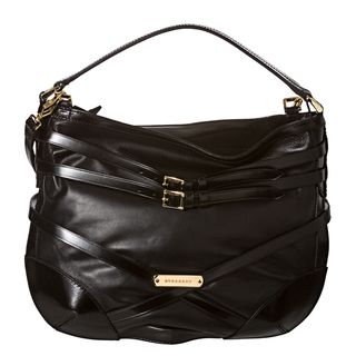 Burberry Bridle Small Black Leather Hobo Bag