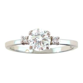 10k Gold April Birthstone White Topaz and Diamond Ring