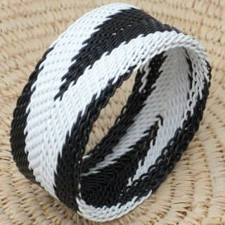Telephone Wire Black and White Bracelet (South Africa)