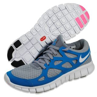 ... NIKE Womens Free Run+ 2 Grey/ Teal Running Shoes ...
